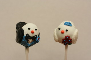 Bridal Birdie Cake Pops | by Sweet Lauren Cakes