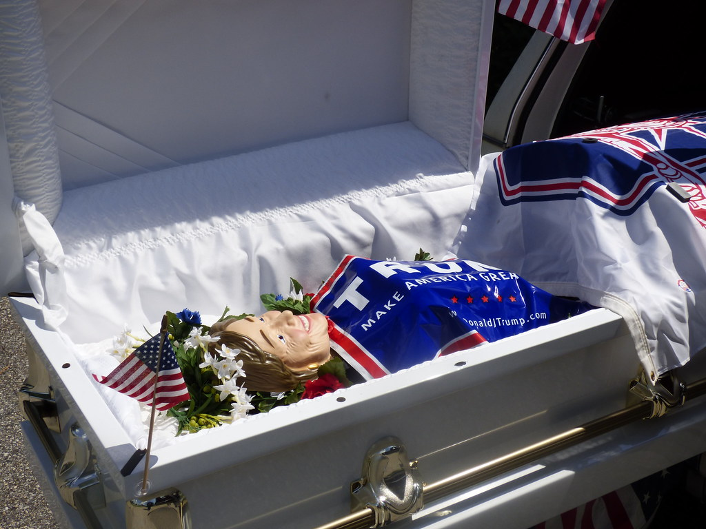 Image result for trump coffin