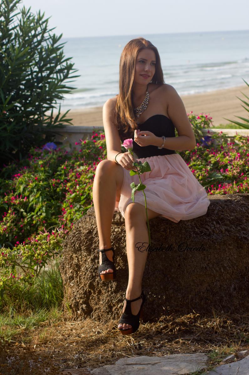 vestido VIPme tacones OASAP HEELSANDROSES Elisabeth Oviedo blog moda vestido palabra de honor falda de vuelo rosa (4)
