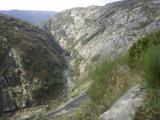 Vista del Cañón en la pared de A Xesteira