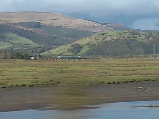 Class 158 train on the Cambrian Coast Line
