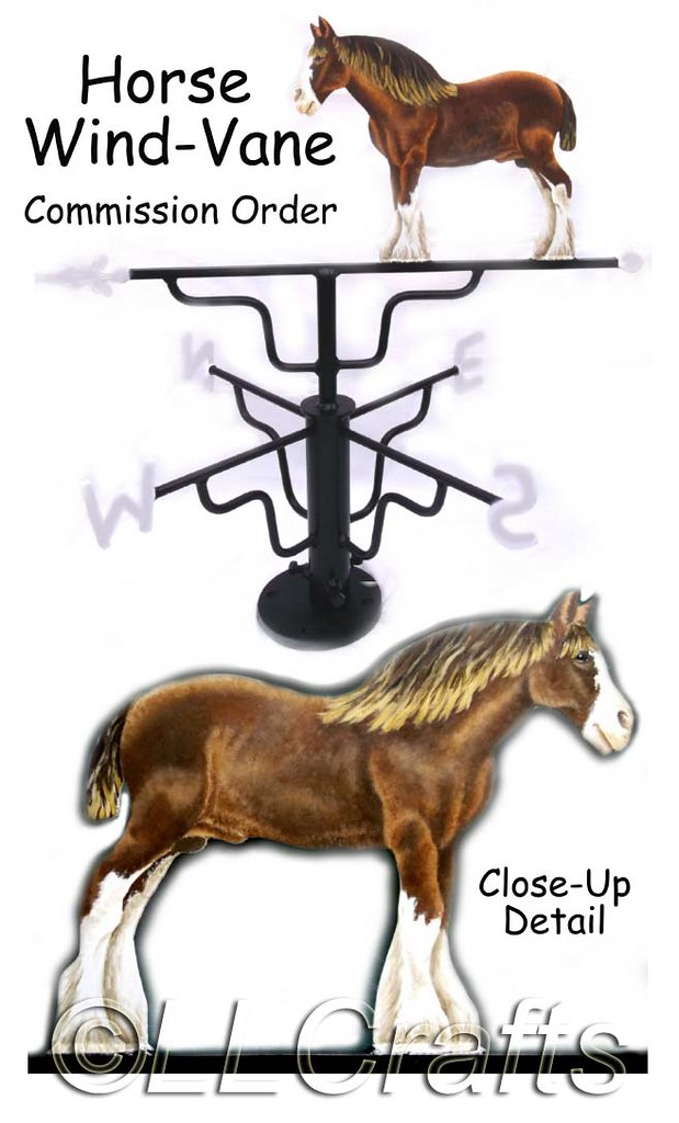Metal 'Horse' Wind-Vane | Personal 'One-Off' Customer's ...