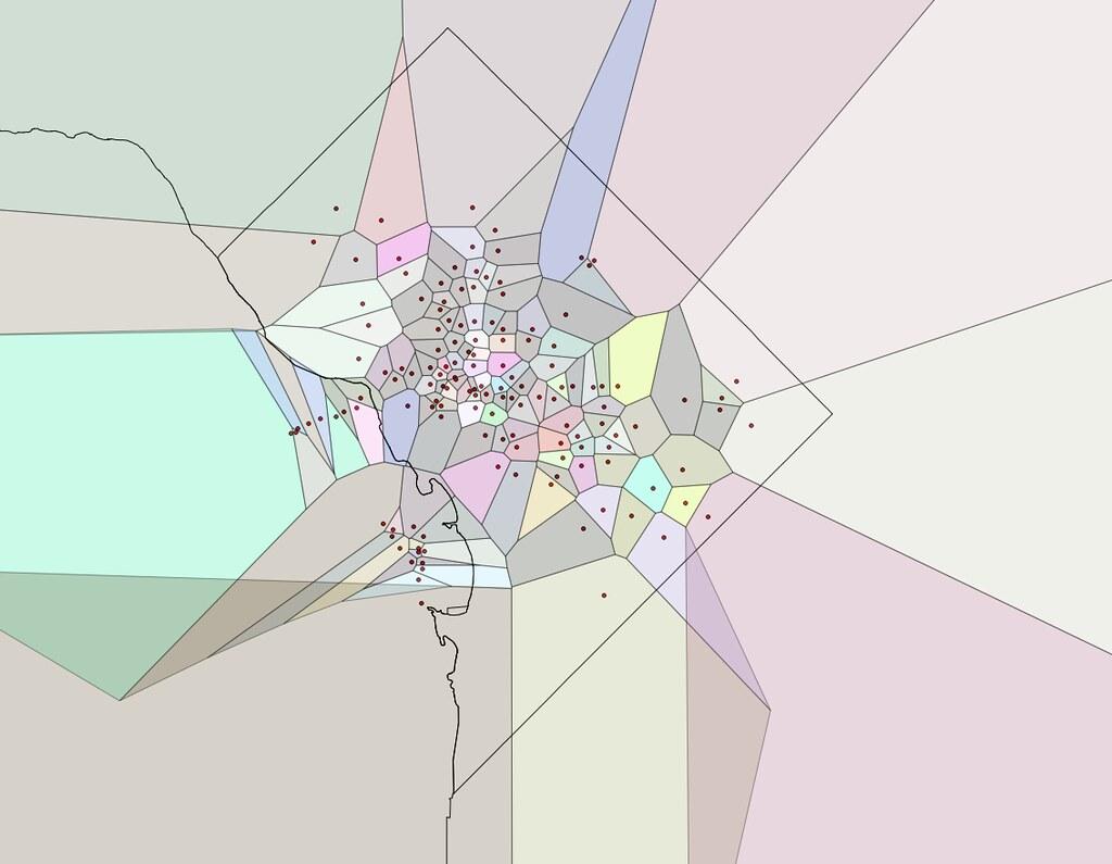Capital Bikeshare Voronoi Diagram Random Color Using Dat Flickr By Justgrimes