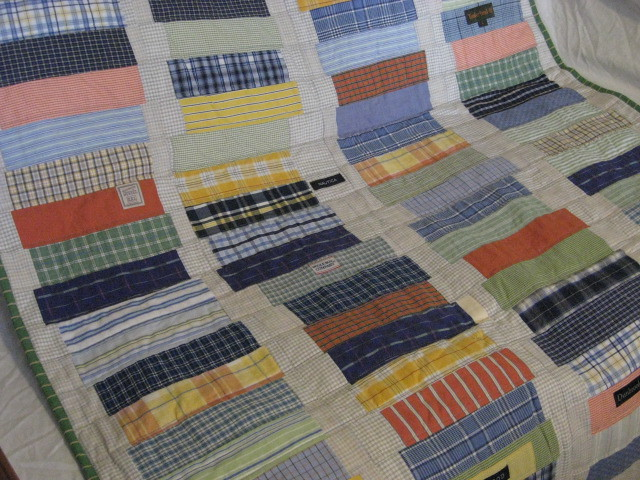Upcycled shirt crib quilt. Reclaimed thrifted men's shirts… | Flickr : mens quilts - Adamdwight.com