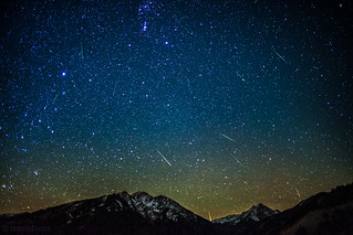 Orionid Meteors over Aspen Highlands and Pyramid Peak | by tmo-photo