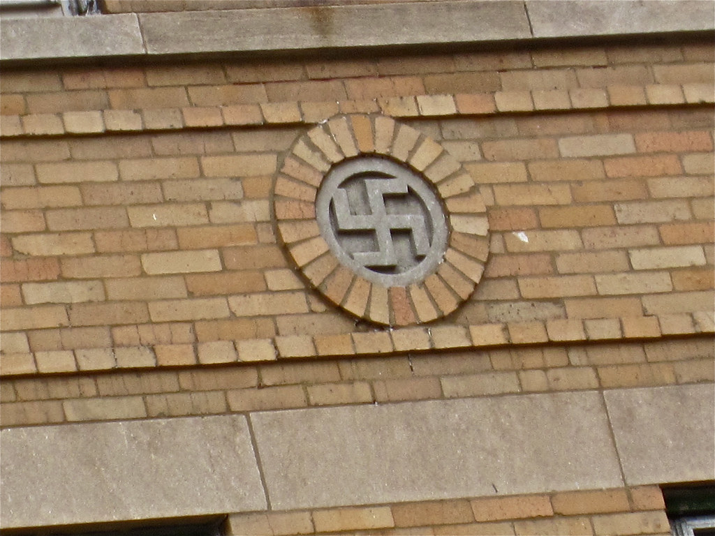 Palm building rockford il swastika on the side of the pa flickr rockford il by robby virus biocorpaavc Image collections
