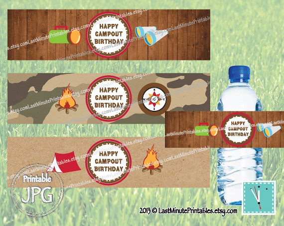 Usd 3 99 Campout Party Campfire Camp Printable Happy C