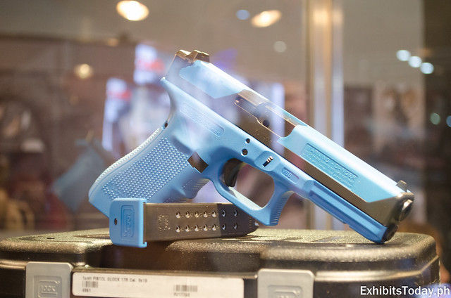 Baby Blue Glock Gun Display