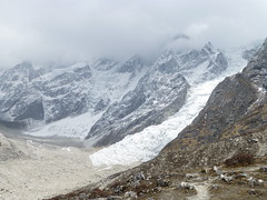 Gletscher hinter dem Larka Pass