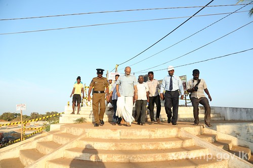 Chief Minister visited Iranamadu Tank to discussed on barriers for rehabilitation works