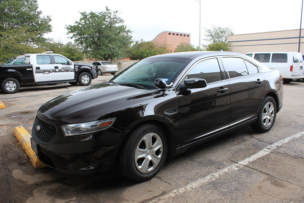 Unmarked Ford Taurus Police Interceptor Amarillo Police T