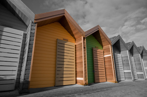 beach huts  (  explore  ) | by ivor miller