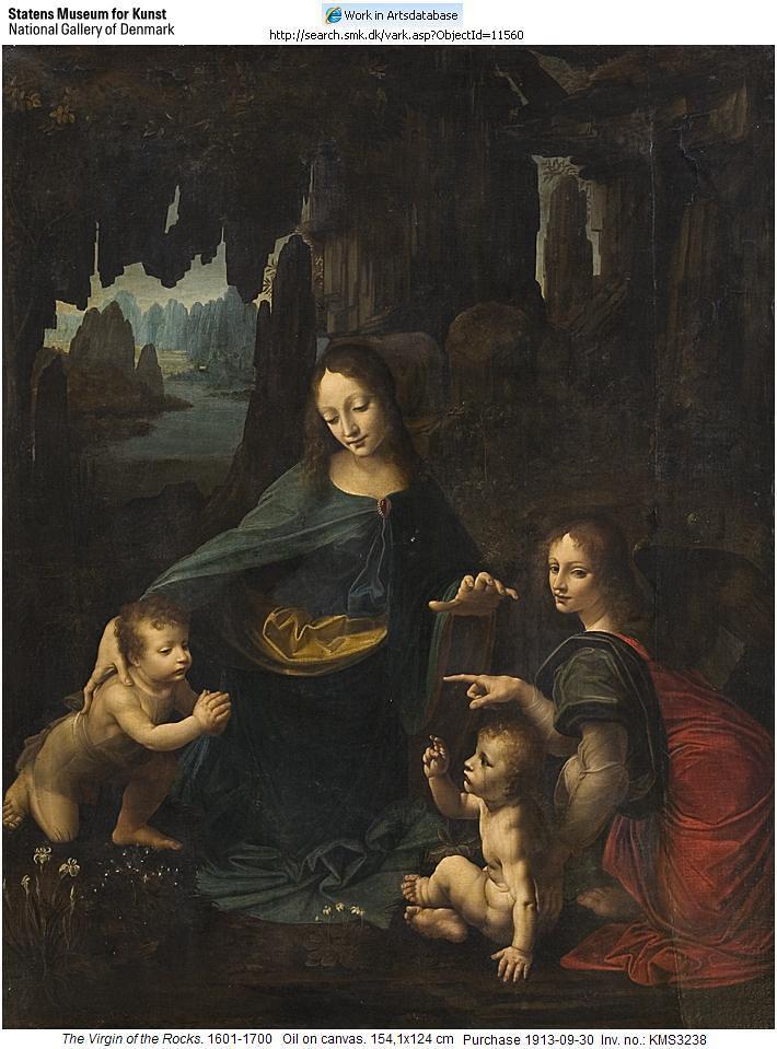 copy of virgin of the rocks after leonardo da vinci 160