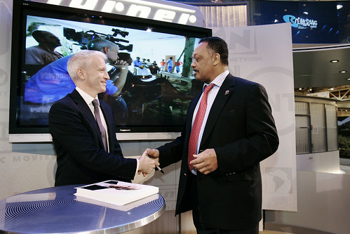 2008: Anderson Cooper and Rev. Jesse Jackson | by INTX2015