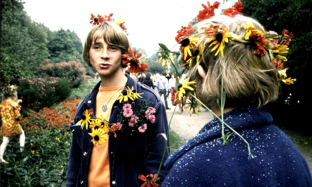 > Hippies nel Vondelpark di Amsterdam negli anni '60 Photo Cor jaring
