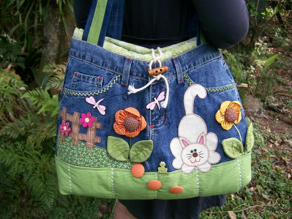 Bolsa De Tecido E Jeans : Bolsa c cal?a jeans fiz pra minha lojinha elo