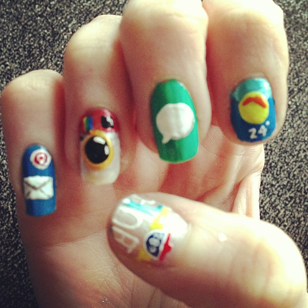 Lazy Saturday Nail Addict! #iPhone #apple #app #mail #inst