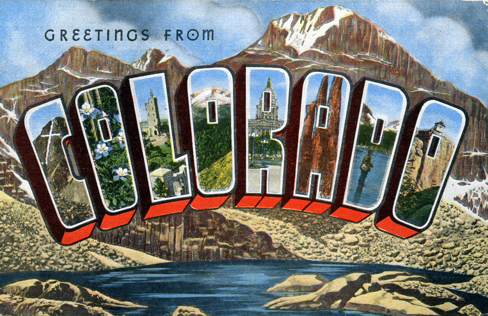 Greetings from colorado large letter postcard production flickr greetings from colorado large letter postcard by shook photos m4hsunfo