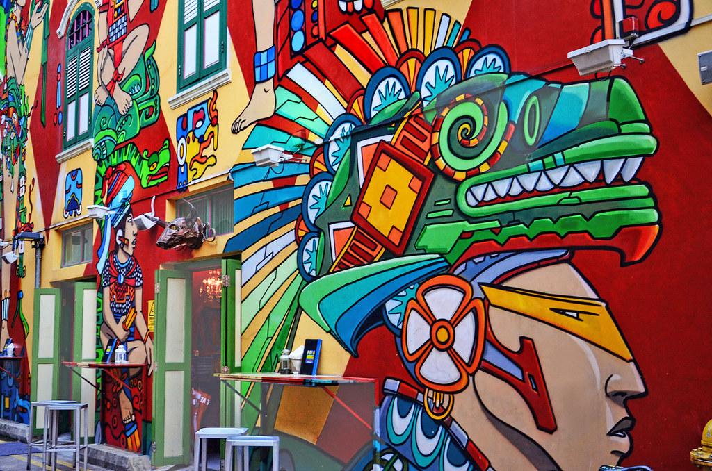 colorful graffiti spicing up the atmosphere at haji lane