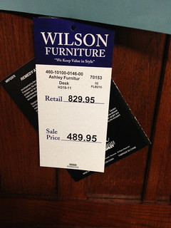 Wilson Furniture Tag | by Tom Crowe