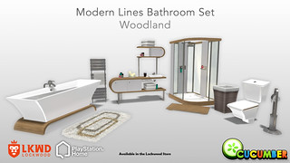 PlayStation Home: Modern Lines Bathroom Set Woodland | by PlayStation.Blog