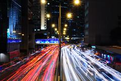 Light stream in City
