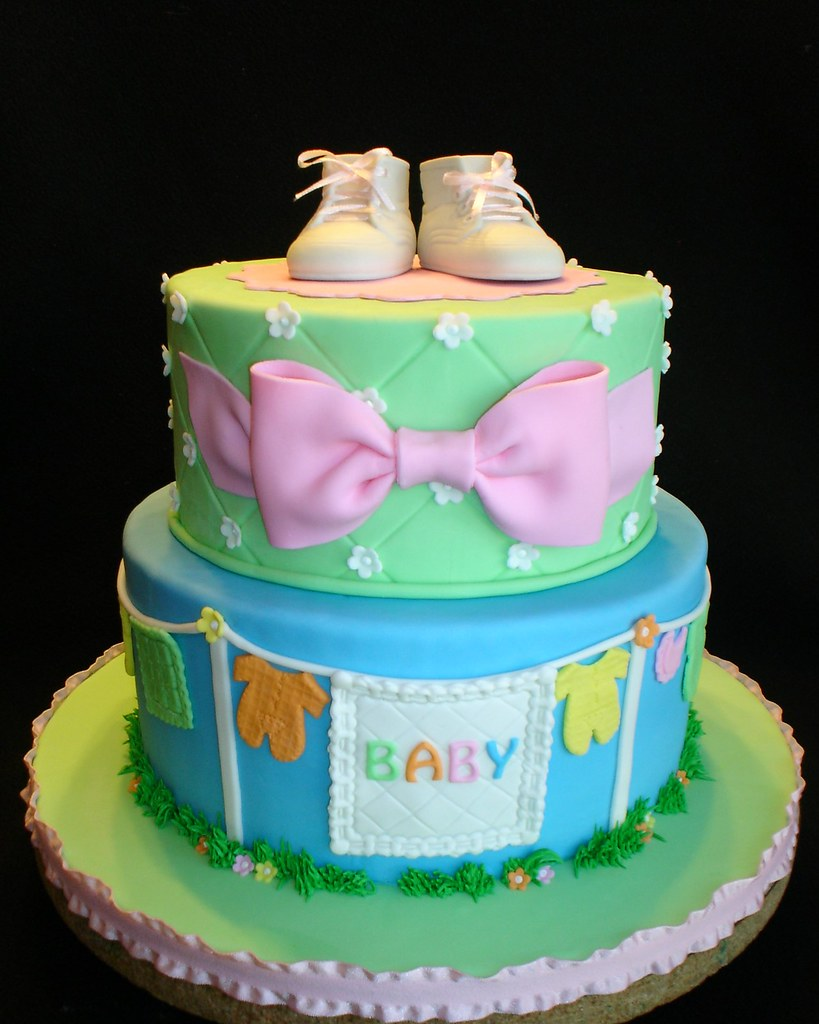 Clothesline Baby Shower Cake Cute And Fun Baby Shower Cake Flickr