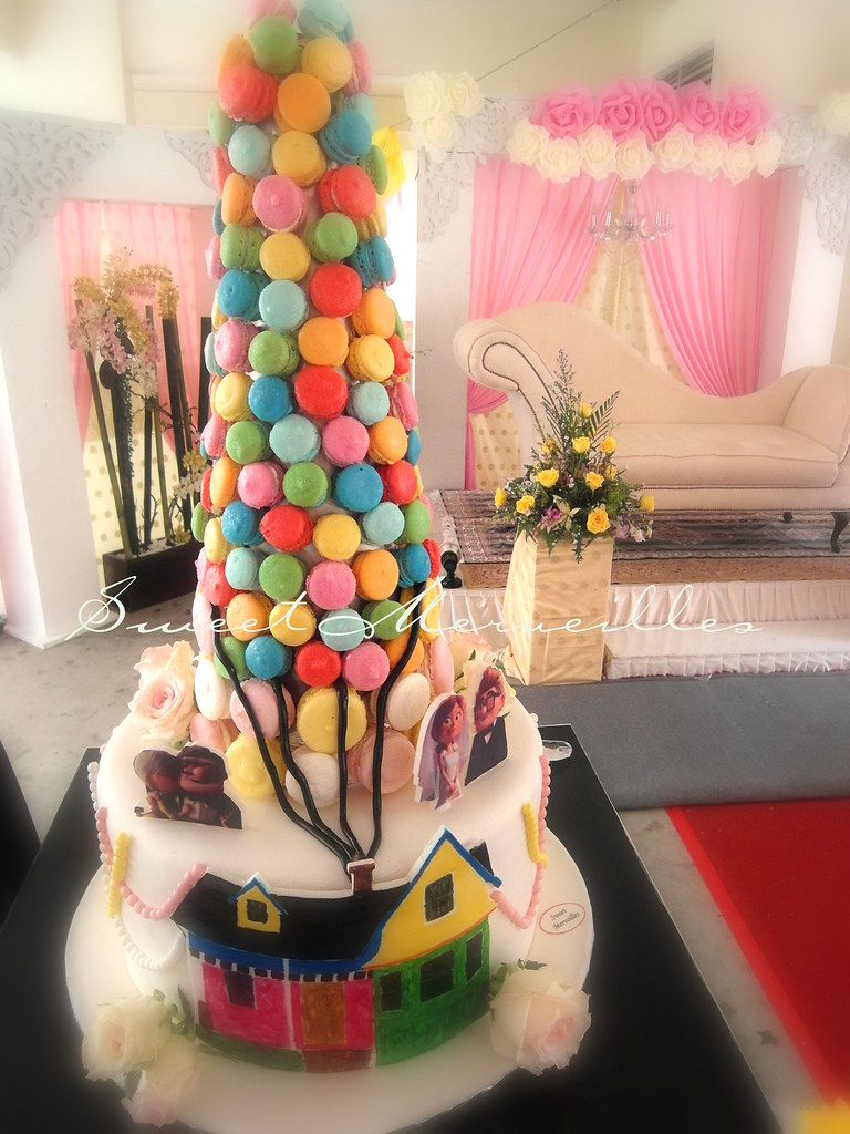 Up Wedding Cake Theme More Pictures In Macarons Cookies Flickr