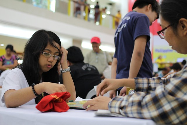Scrabble tournament in Cubao mall