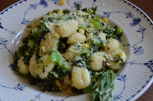 Summer Vegetable Gnocchi with Sweet Corn, Bell Pepper & Basil