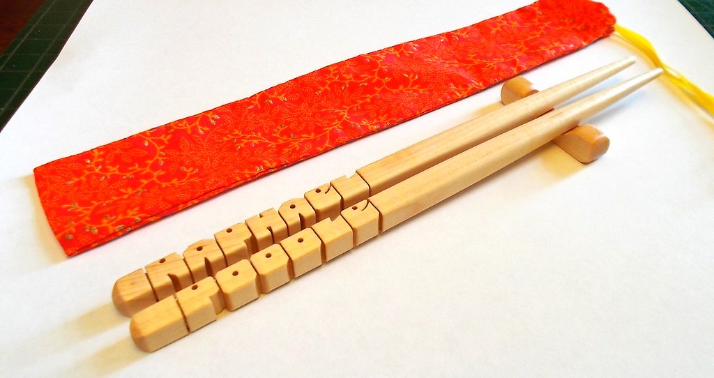 Personalized Maple Wood Chopsticks Gift Set Wwwetsycom Flickr