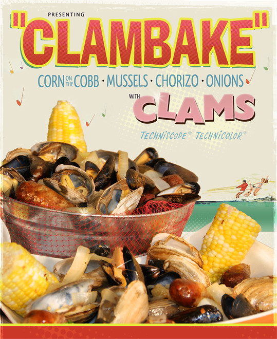 Movie Poster create a movie poster free : Clambake Poster : A seafood poster in a vintage Elvis ...