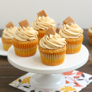 Brown Butter Pumpkin Cupcakes with Caramel Cream Cheese Frosting | by Tracey's Culinary Adventures