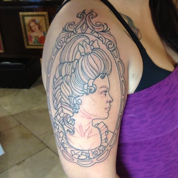 Victorian Girl Tattoos Woman Tattoo Victorian