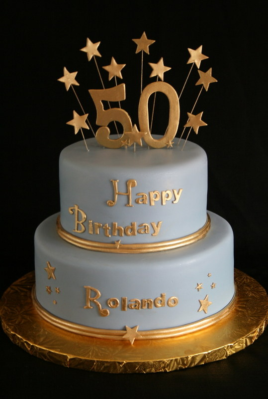 50th Birthday Cake Gold And Blue Modeled After Last Months Flickr