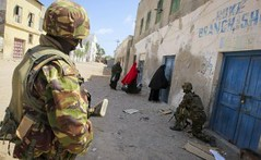 US-backed military forces terrorize Somalians in the southern port city of Kismayo. Resistance to the occupation has continued since Kenyan Defense Forces entered the town. | by Pan-African News Wire File Photos