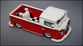 custom 1962 vw lowrider truck highly modified lego model. Black Bedroom Furniture Sets. Home Design Ideas