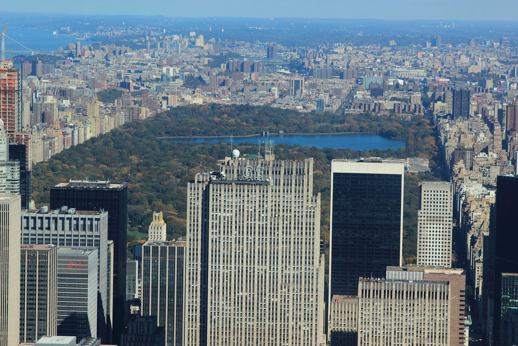 A view of central park from 102nd floor of empire state bu for 102nd floor empire state