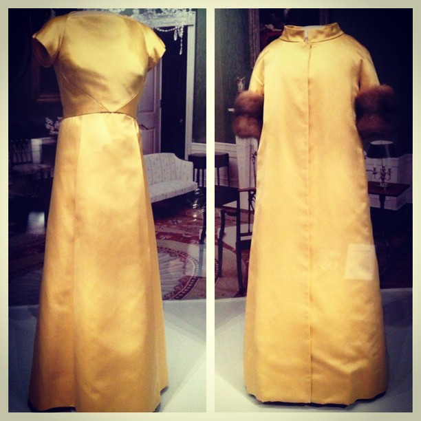 Lady Bird Johnson 39 S Inaugural Gown Left And Coat Right Flickr