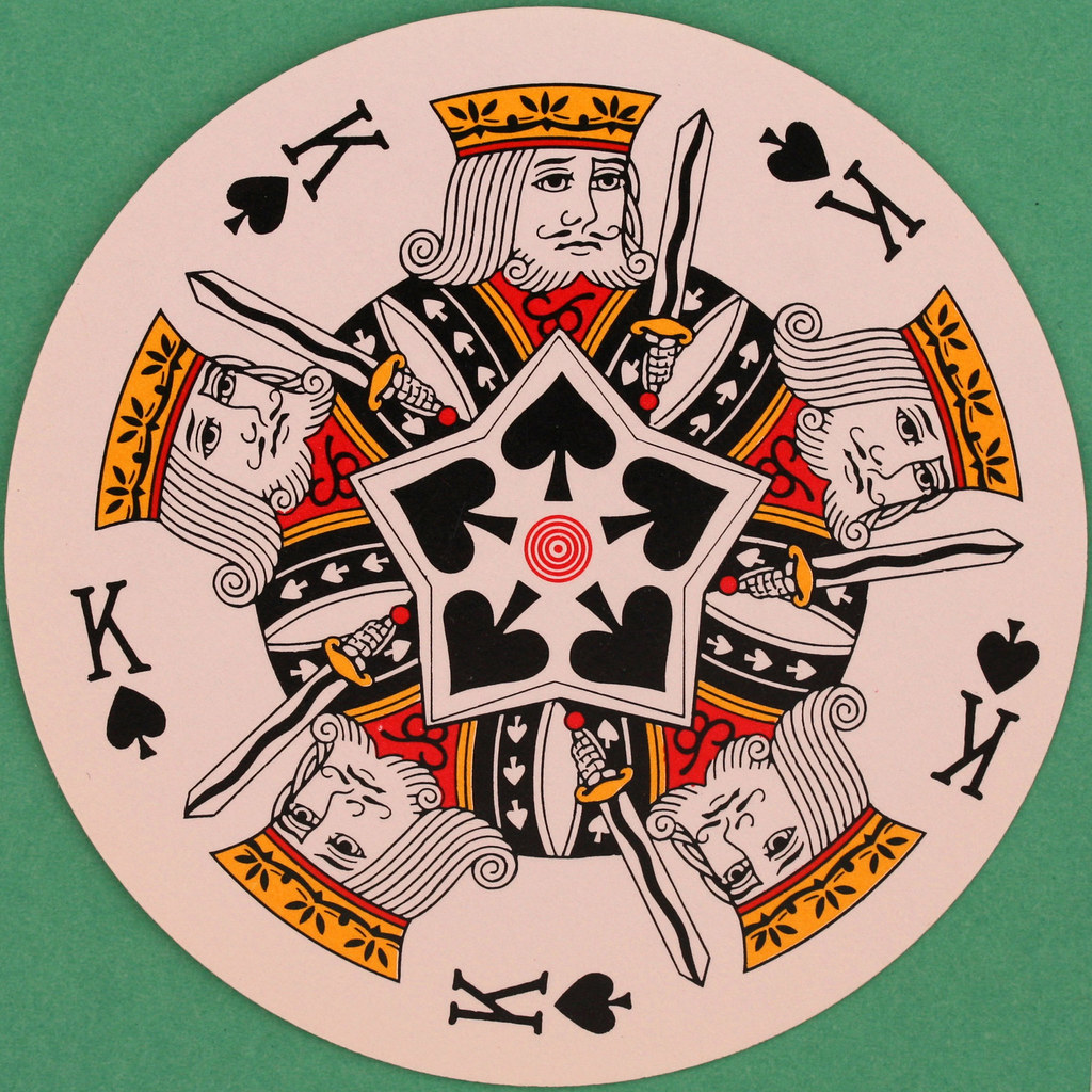 Wimpy Round Playing Card King of Spades (2) | Leo Reynolds | Flickr