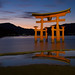Long Exposure of the famous Torii Gate of the Itsukushima Shrine, Miyajima