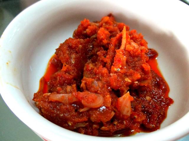 Angela's nasi lemak sambal