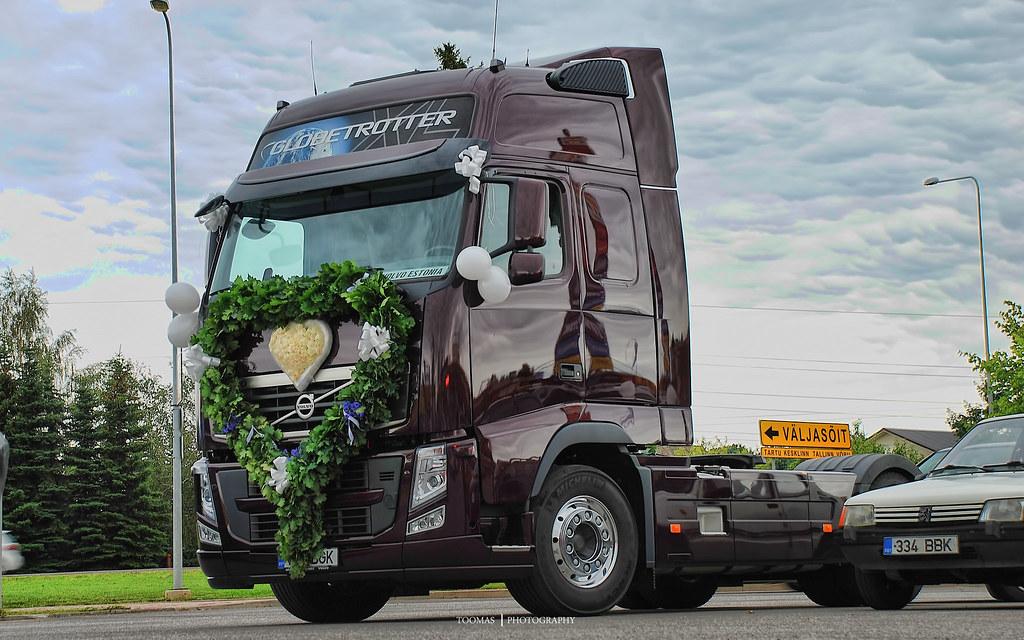 volvo fh wedding truck trucks and estonian roads flickr