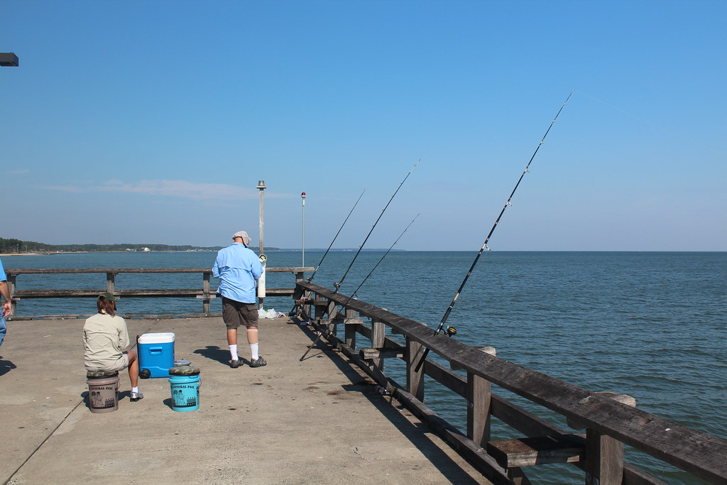 Img 0495 a couple tending their fishing poles at point for Point lookout fishing pier
