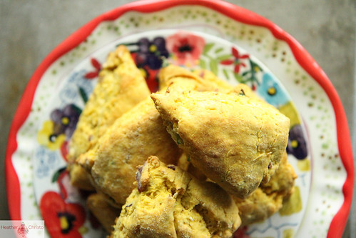 Butternut Squash Bacon Scones | by Heather Christo