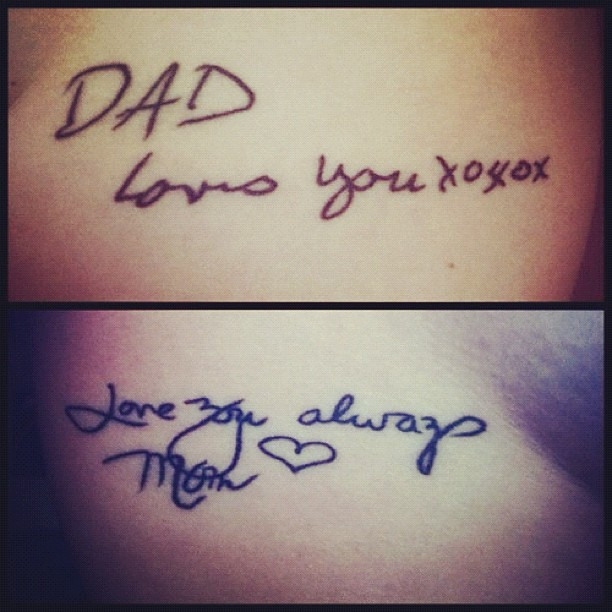 Tattoo Of My Parents Signature From A Card: Next #tattoo #iwant Is My #parents #handwriting This Is No