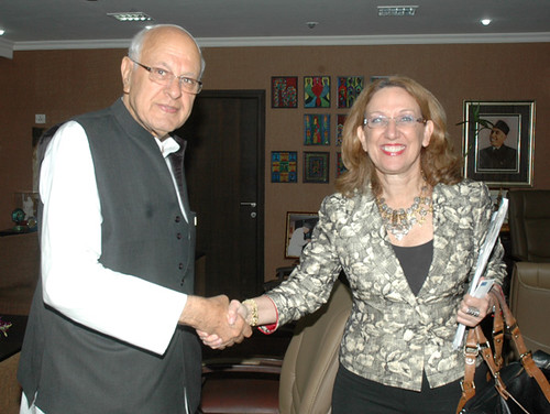 Rebeca Grynspan meets Farooq Abdullah, Minister of New and Renewable Energy | by UNDP in India