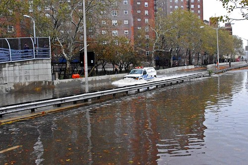 Hurricane Sandy NYPD FDR Flood 2012 | by david_shankbone