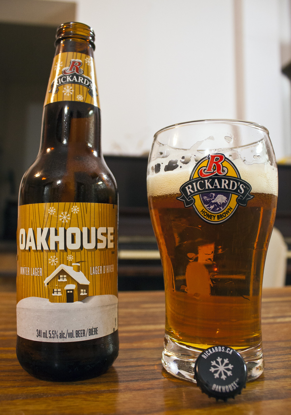Review: Rickard's Oakhouse Winter Lager by Cody La Bière