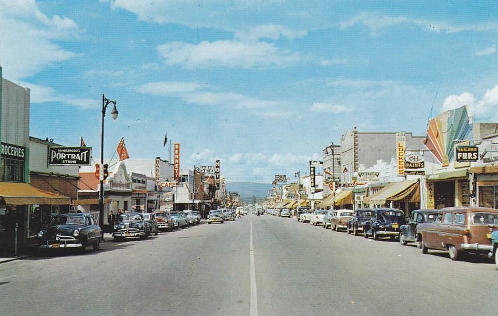 Postcard: Penticton, BC, 1955 | 400-block Main Street ...